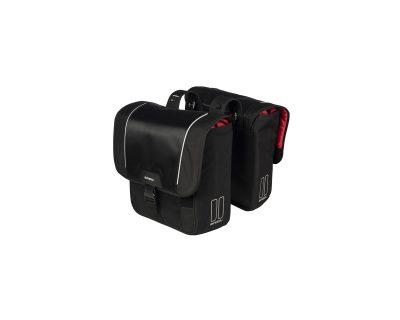 Basil dupla táska Sport Design Double Bag, Universal Bridge system, fekete